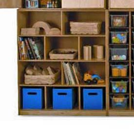 Preschool Cubby Storage Unit 10 Compartments No Tray 39 W X 14 D X 46 H Natural Wall Storage Shelves Wall Storage Shelves