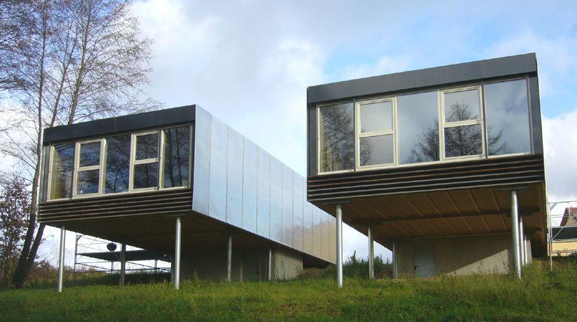 Stéphane Brulet architecte - Maisons ECV02 - Metal sur Pilotis