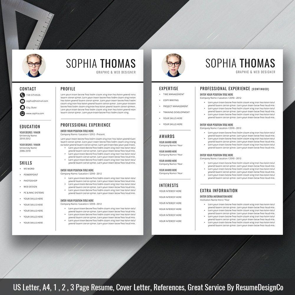 Creative Resume / CV Template for MS Word, Modern