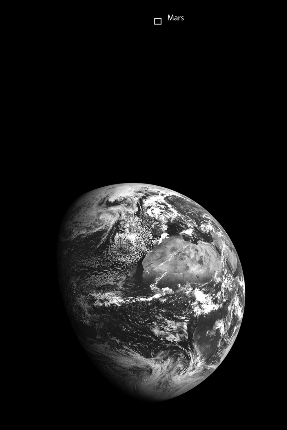 Here S What A Picture Of Both Earth And Mars Together Look Like Nasa Earth Mars And Earth Planets