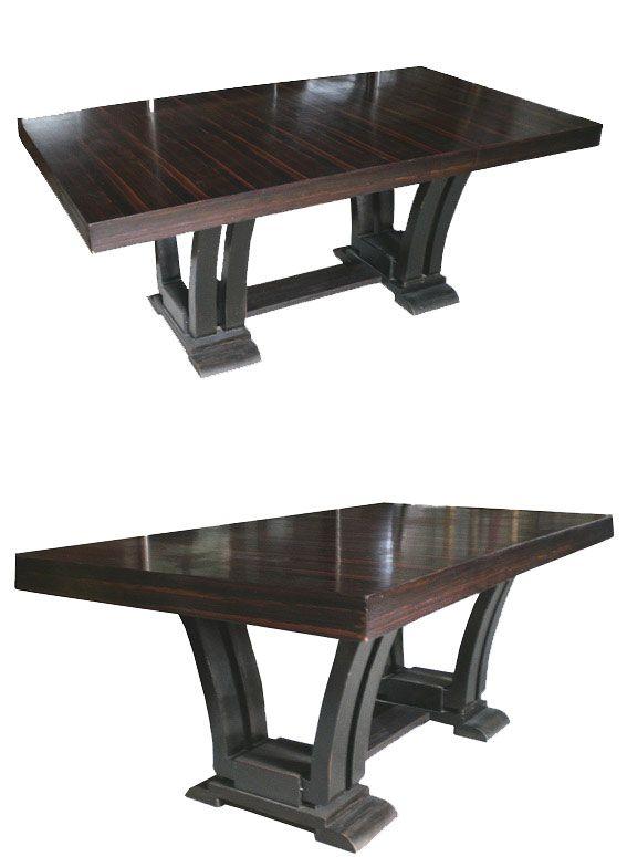 DOMINIQUE (DANS LE GOUT DE ) TABLE DE SALLE A MANGER EN PLACAGE D