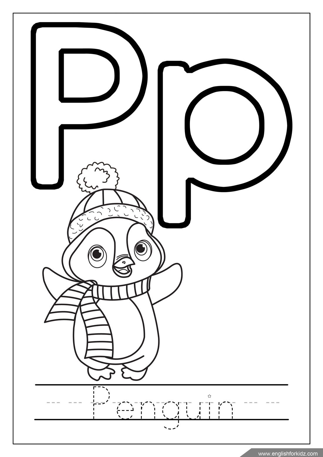 Pin By Englishforkidz On English Learning Winter Worksheets And Flashcards Alphabet Coloring Letter A Coloring Pages Penguin Coloring Pages [ 1556 x 1100 Pixel ]