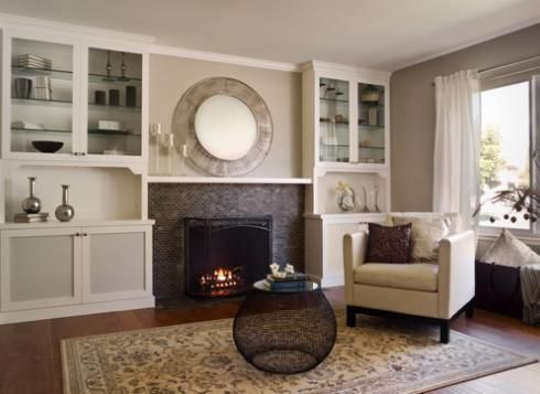 Great family room remodel completed by Case Design/Remodeling of San Jose