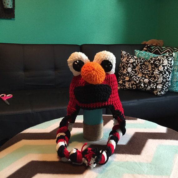 Elmo crocheted hat by CraftyDiva23 on Etsy