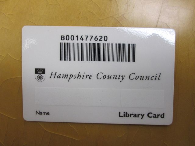 Hampshire County Council  Library Cards