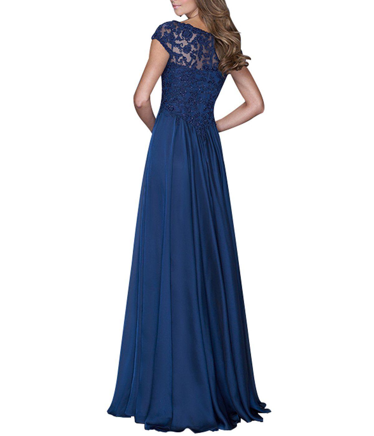 Burgundy lace a line bridesmaid dress v neck cap sleeve long chiffon