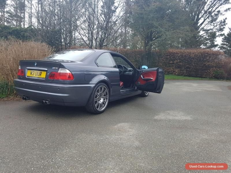 Car for Sale: Steel Grey/ Imola Red Leather, BMW, E46, M3 ...
