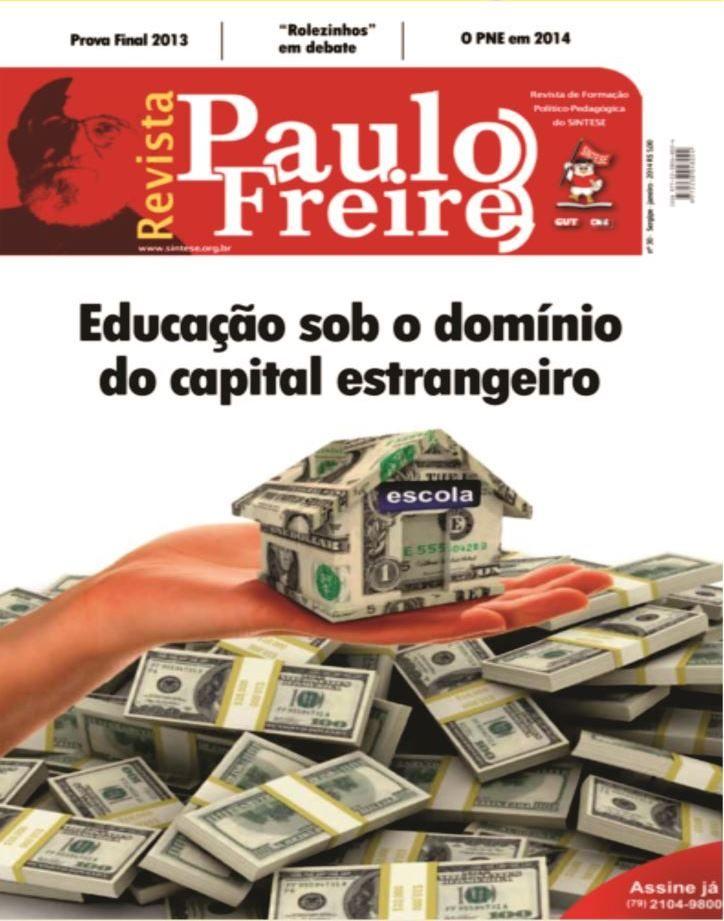 CAPA REVISTA PAULO FREIRE- CAPITAL ESTRANGEIRO NA EDUCAÇÃO
