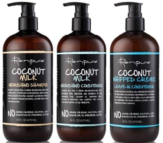 Renpure Coconut Milk Nourishing Shampoo 16 0 Oz Nourishing Conditioner Nourishing Shampoo Shampoo