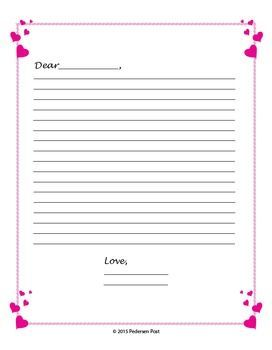 now available in our valentines day bundle heart filled writing paper includes 7 formats of writing paper in 2 sizes letter format four square