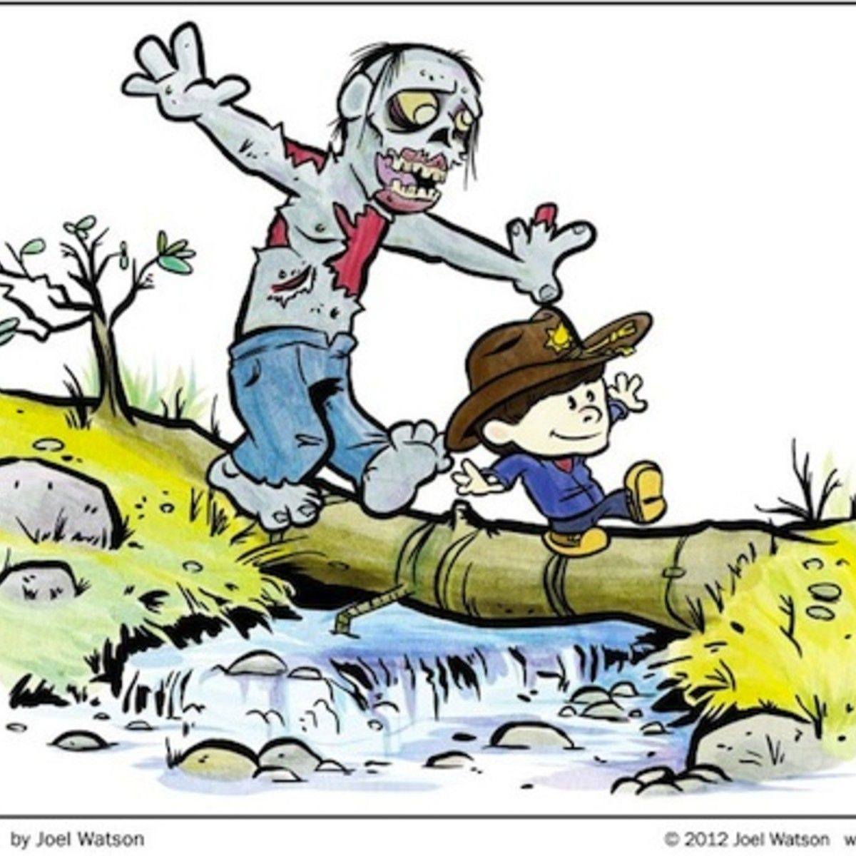 Walking Dead Meets Calvin Amp Hobbes