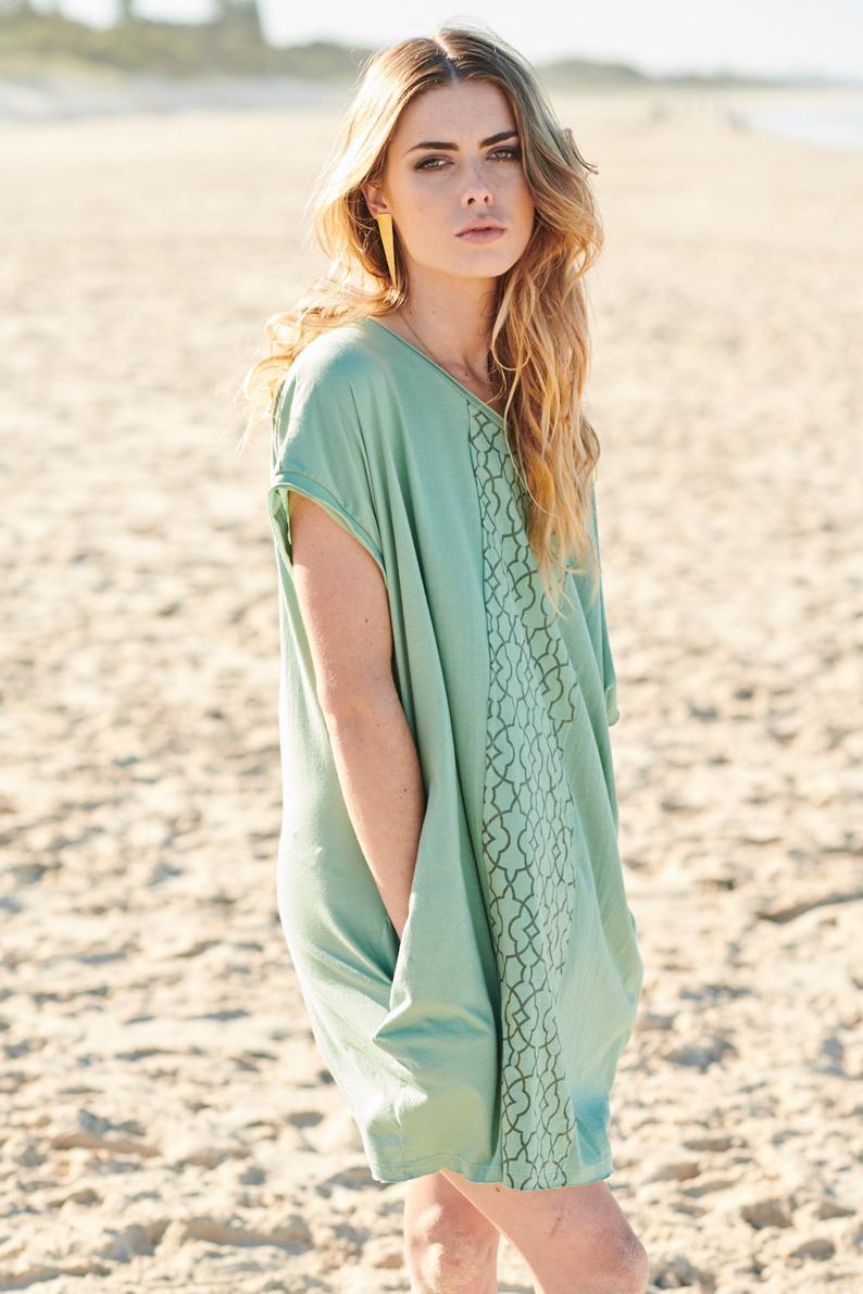 Summer Tunic Beach Wear Kaftan Tunic Dress Boho Dress Etsy Boho Dress Bohemian Dress Summer Tunics [ 1191 x 794 Pixel ]