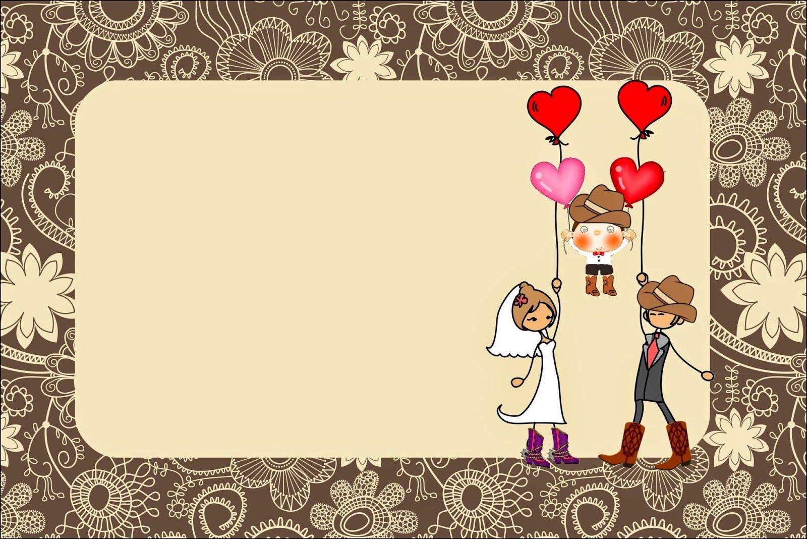 resultado de imagen de plantillas para hacer invitaciones de boda