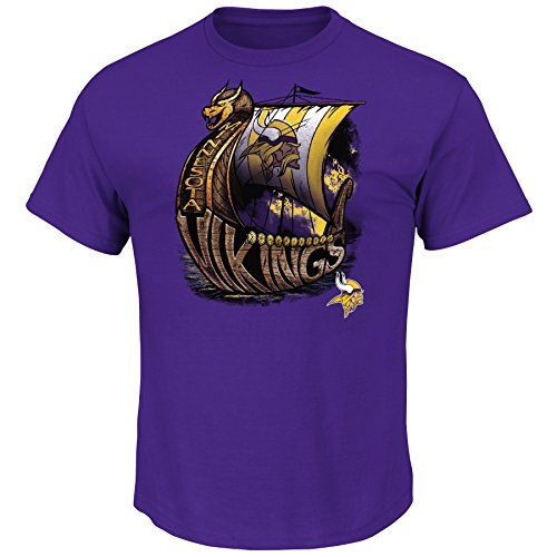 Minnesota Vikings Four Man Front Mens Purple Shirt Medium >>> Read more reviews of the product by visiting the link on the image.