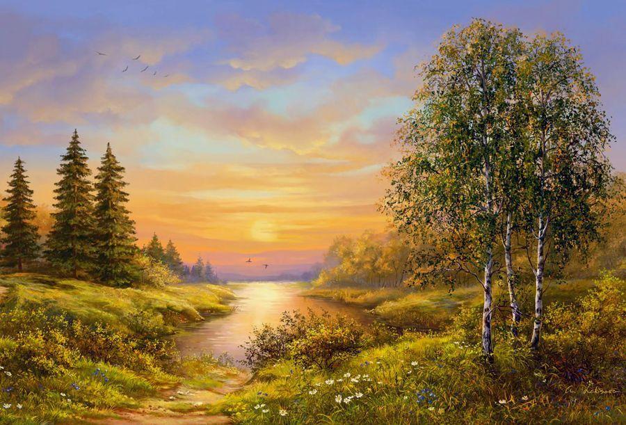 пейзажи средней полосы россии рисунки может быть