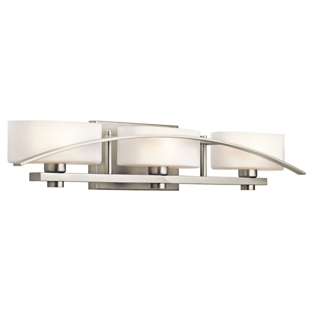Kichler 45317 Suspension 3 Light Wide Vanity Light Bathroom Fixture With  Etc Brushed Nickel Indoor Lighting Bathroom Fixtures Vanity Light