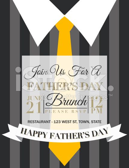 Mens Dress Shirt Template For Father S Day Brunch Father S Day Fathers Day Brunch Brunch Invitations Invitation Template