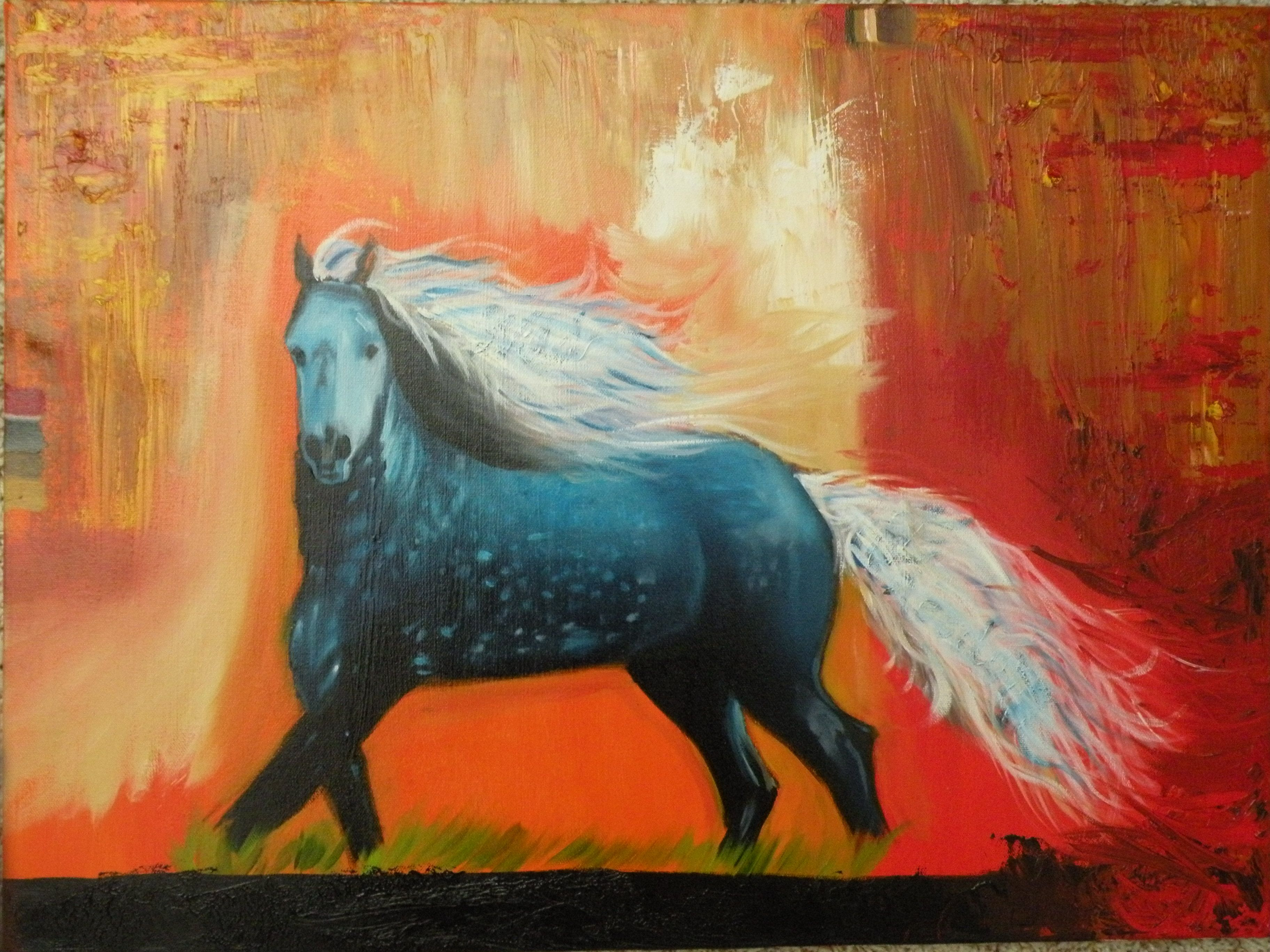 Colors Of Freedom Art Painting Paint Oil Horse Freedom Colors Dapple Art Artwork Painting