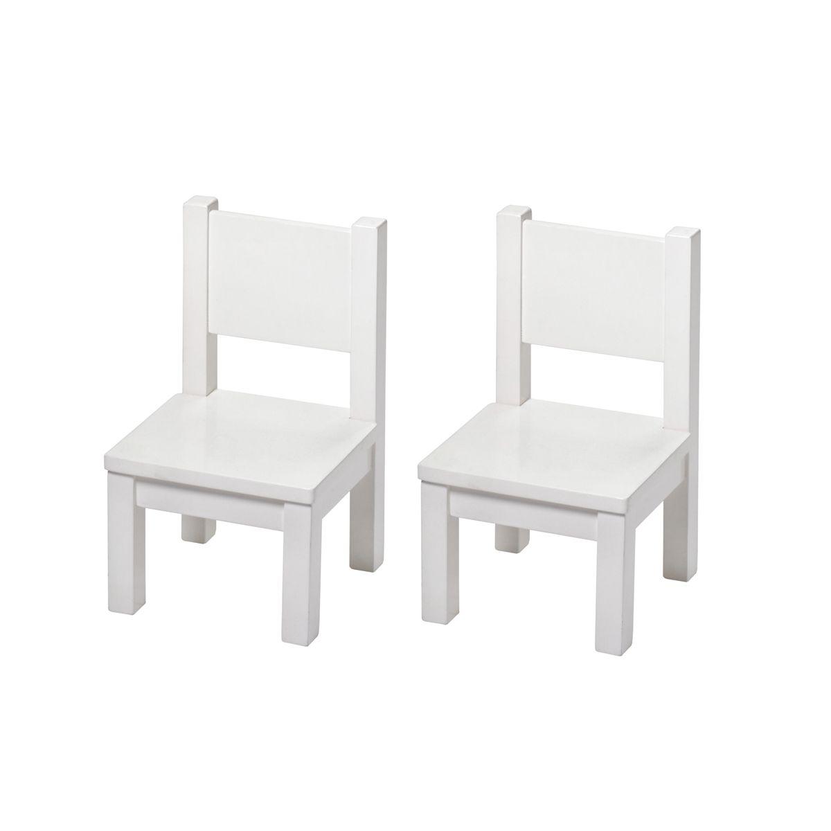 2 Chaises Blanches Tout Petits Chaises Blanches Rangement Decoratif Chaise