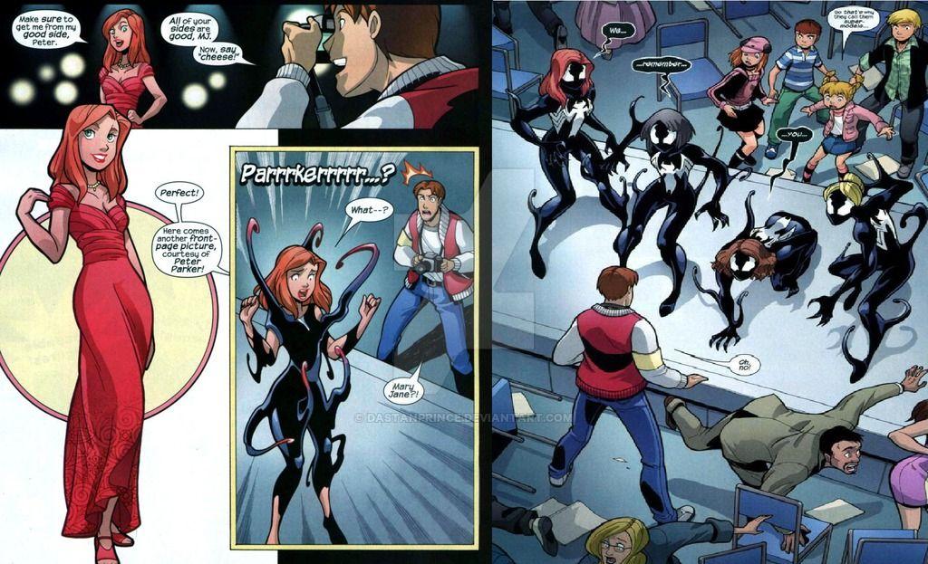 Spider Symbiote Transfor Man Mary Jane