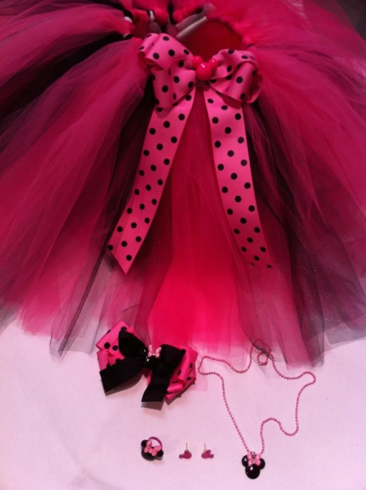 Minnie Mouse tutu Set $45