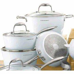 Batterie de cuisine en c ramique antiadh sive bianco - Batterie de cuisine lagostina ...