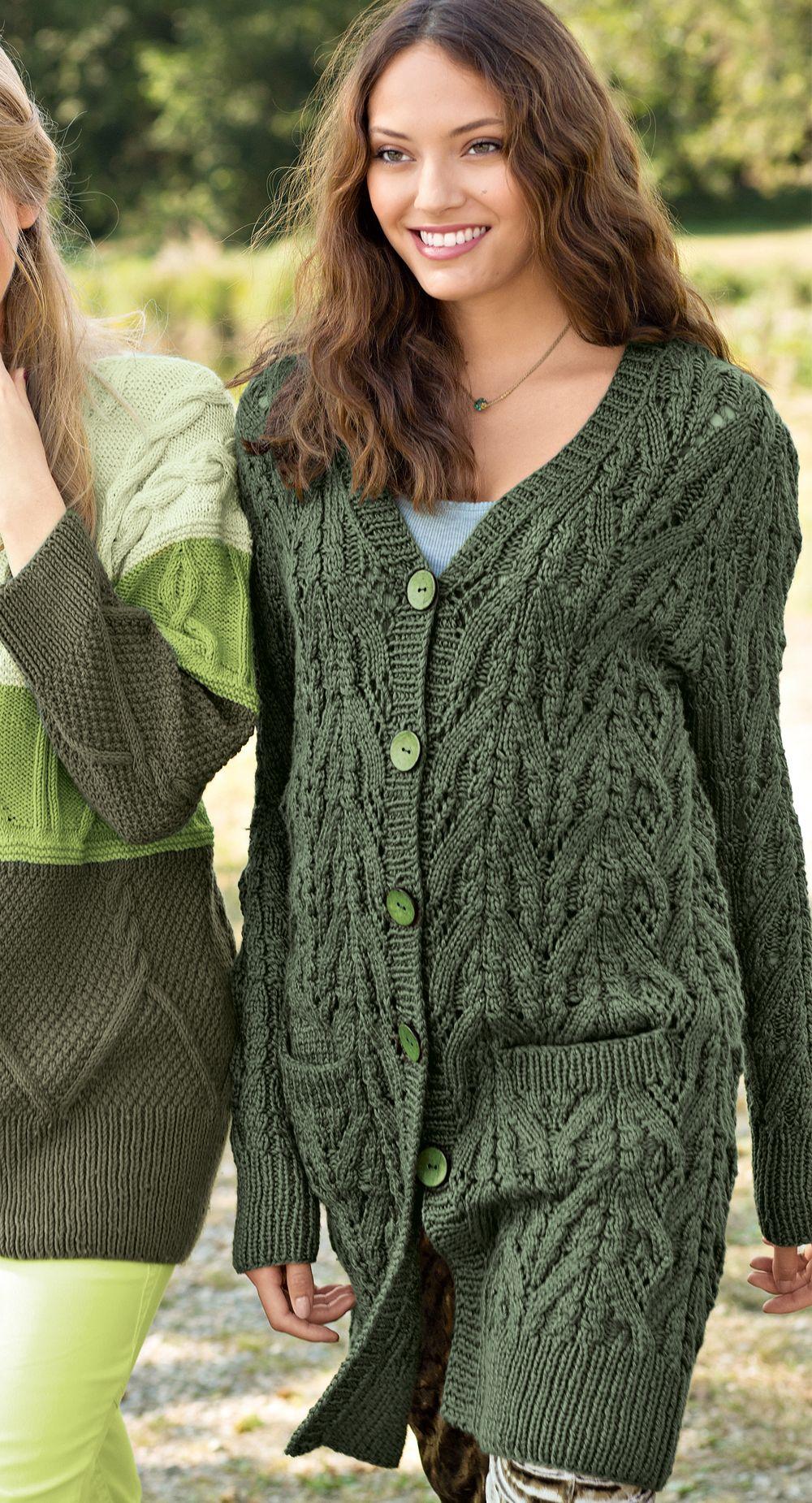 Схемы вязания кофт для девушки