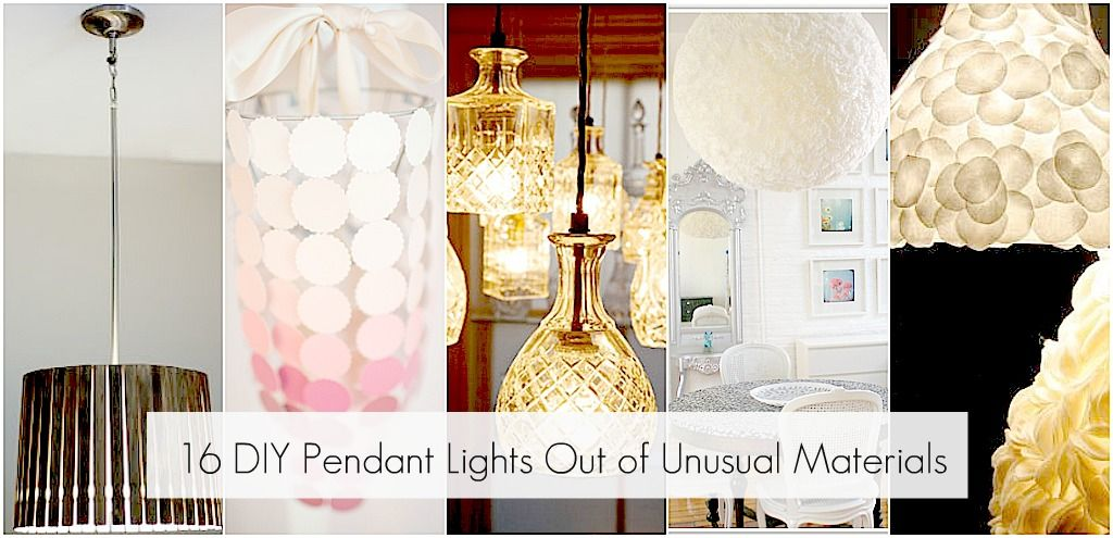 Unusual material pendant lights home decor diy pendant light i recently upgraded the recessed lights in my kitchen and made some diy pendant lights aloadofball Choice Image