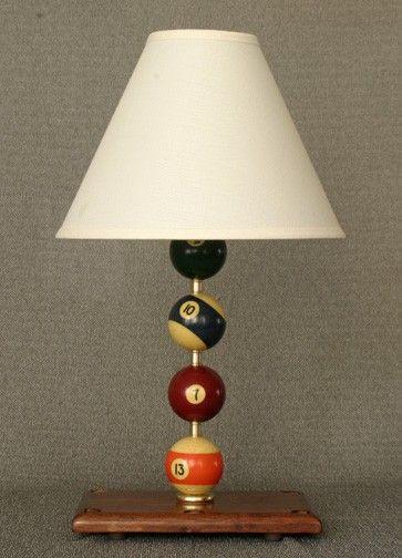 de con lámpara noche billarupcycle hecha bolas mesa de de 9H2WEDIY