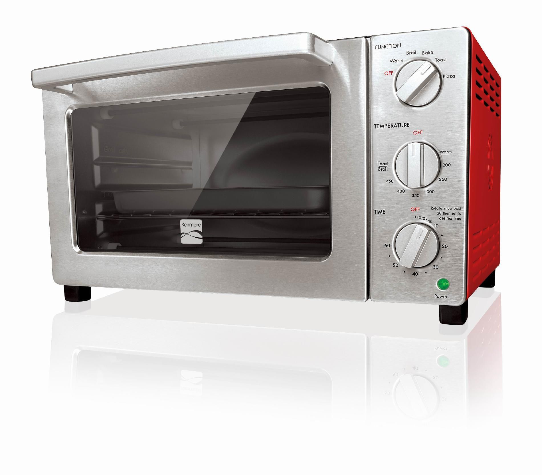 Kenmore 4206 6 Slice Convection Toaster Oven Red Convection