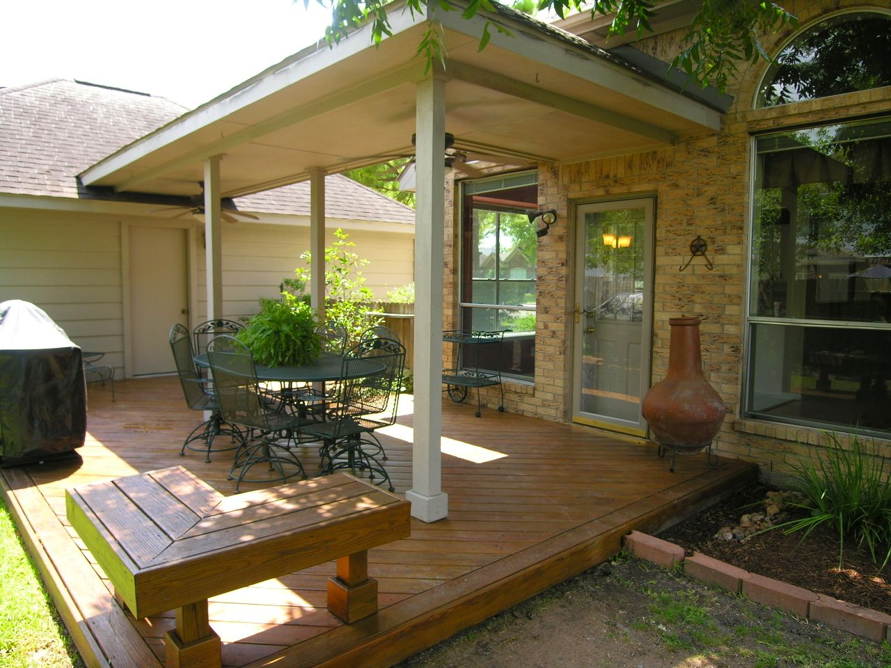 A Covered Patio Would Be Great Between Our House And Garage