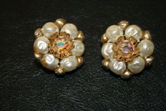 VIntage earrings earrings clip on earrings by PreciousWishes
