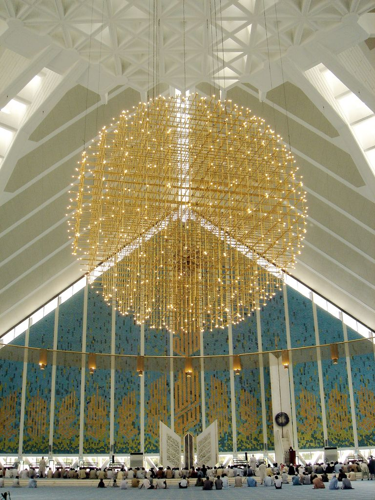 Chandelier at Shah Faisal   Islamabad pakistan, Mosque and ...
