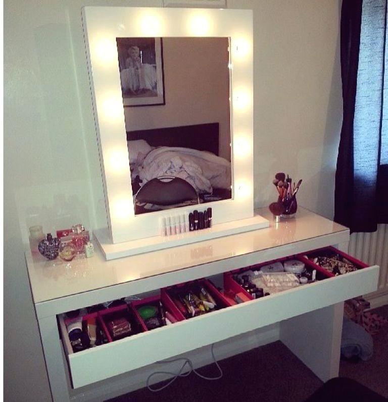 make up schminktisch mit beleuchtetem spiegel schlafzimmer design inneneinrichtung zimmer