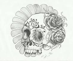 Sugar Skull Drawing Female   Google Search