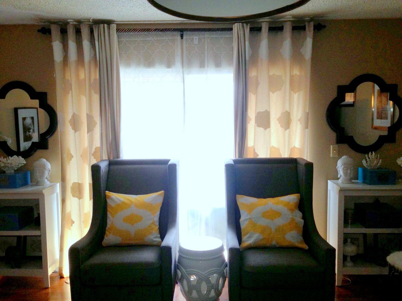DIY stenciled curtains | Stenciled curtains, Home decor ...