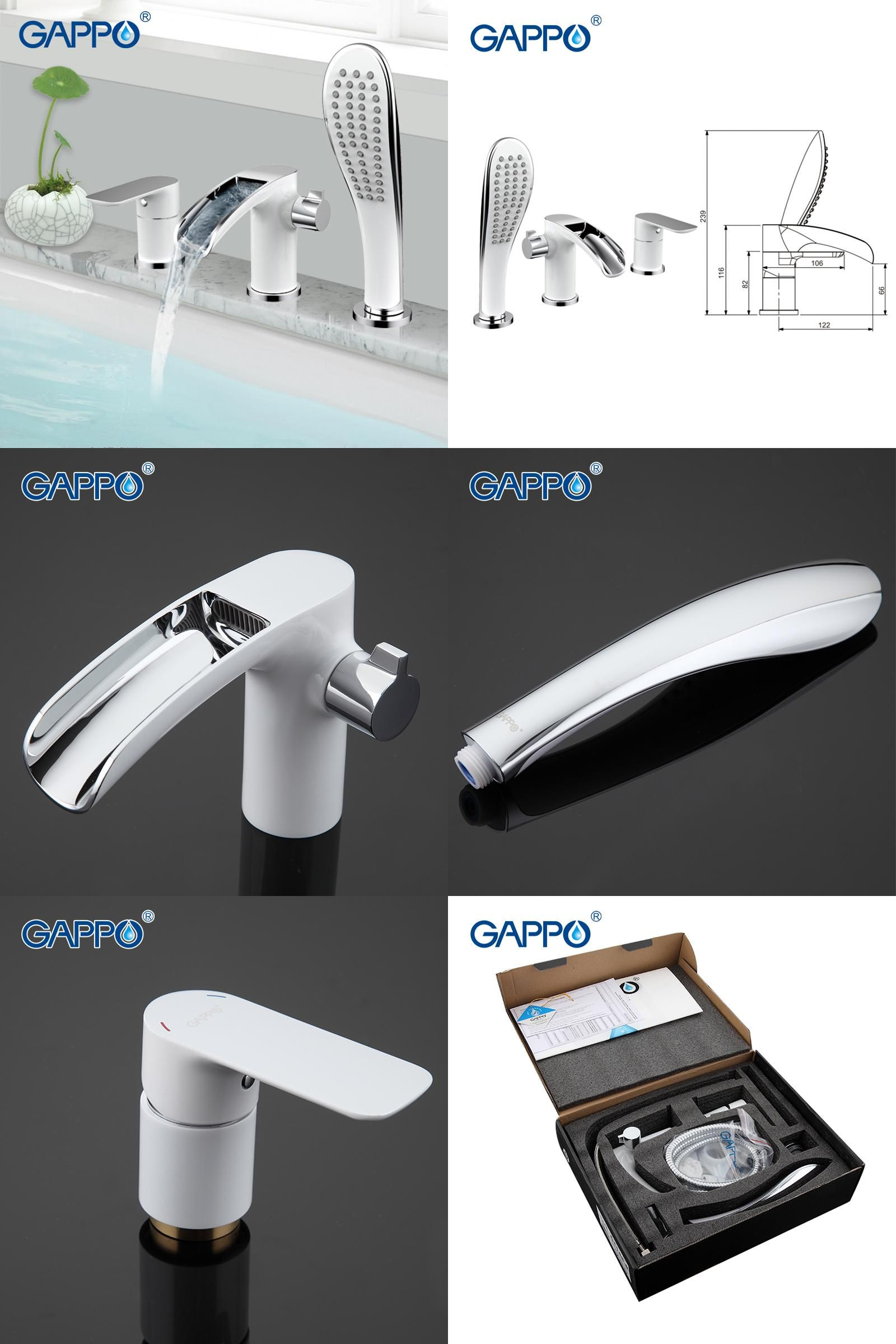 Visit to Buy] GAPPO1set bathroom shower fixture Bath Shower Faucet ...