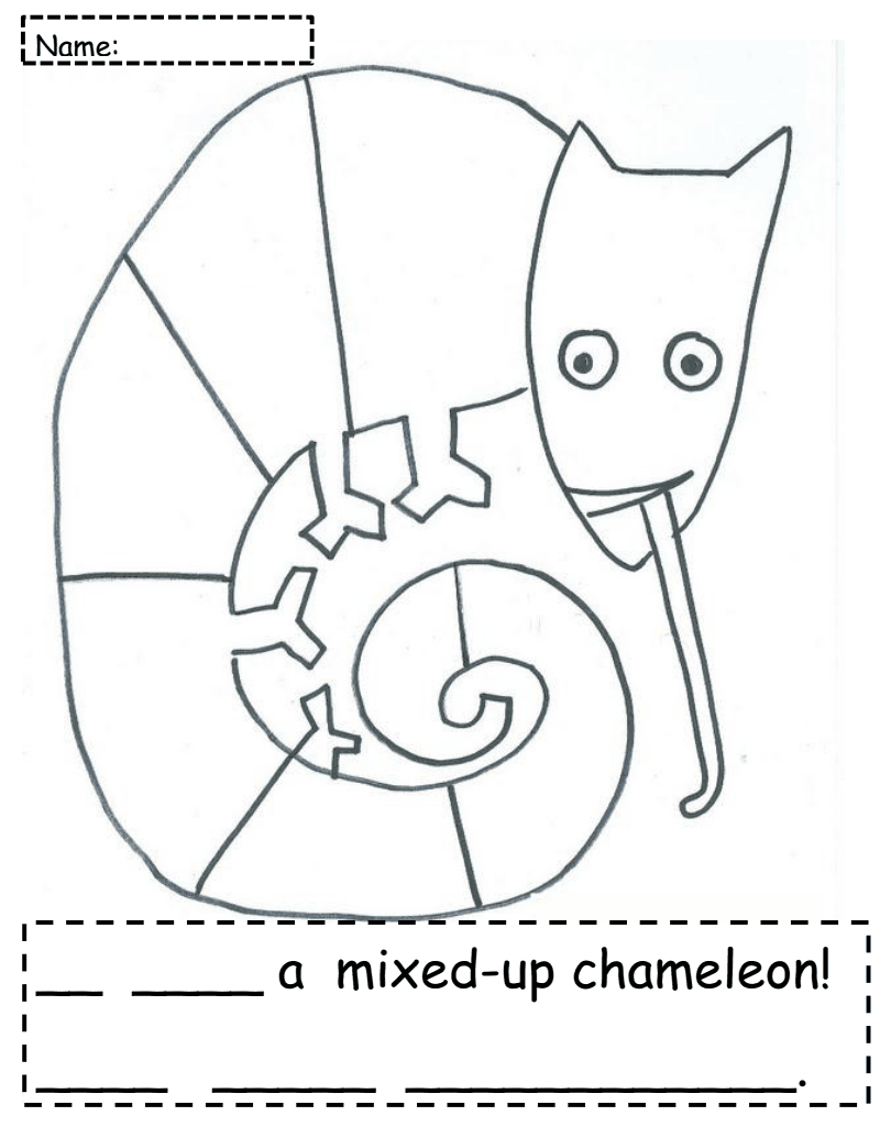 eric carle chameleon template - mixed up chameleon freebie 2nd grade pinterest