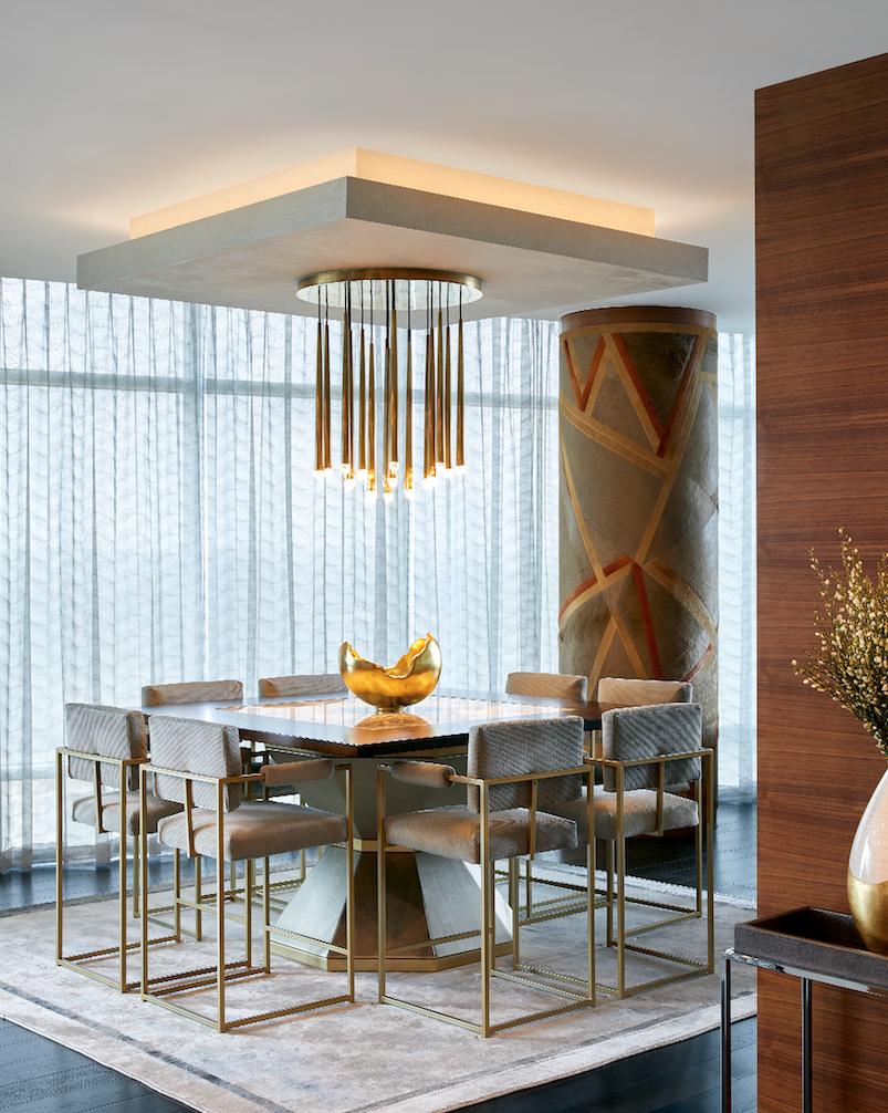 modern dining room i custom dining table i austin interior designer
