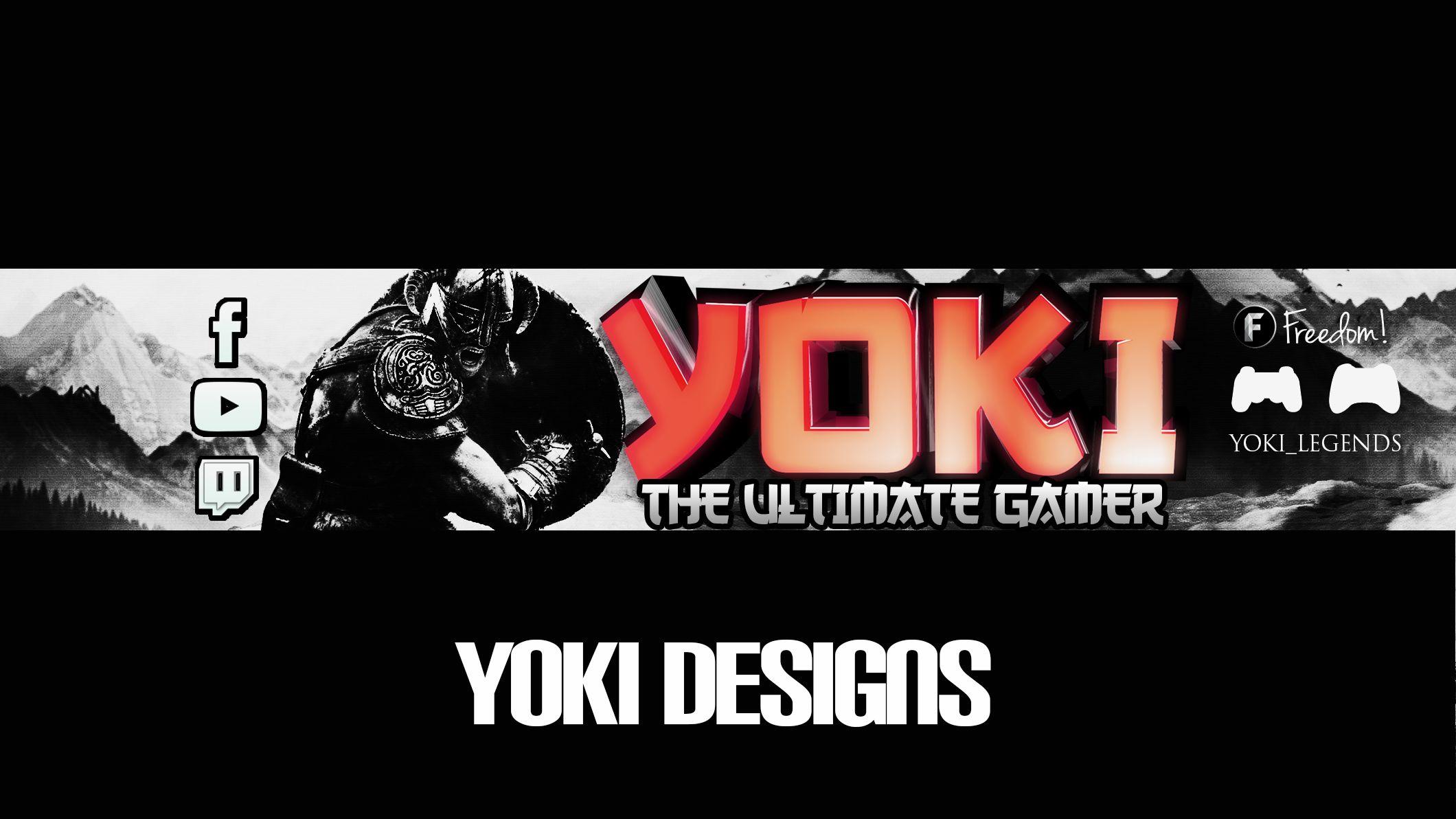 MY YOUTUBE BANNER - MY DESIGN OF SKYRIM | YouTube Channel Art ...