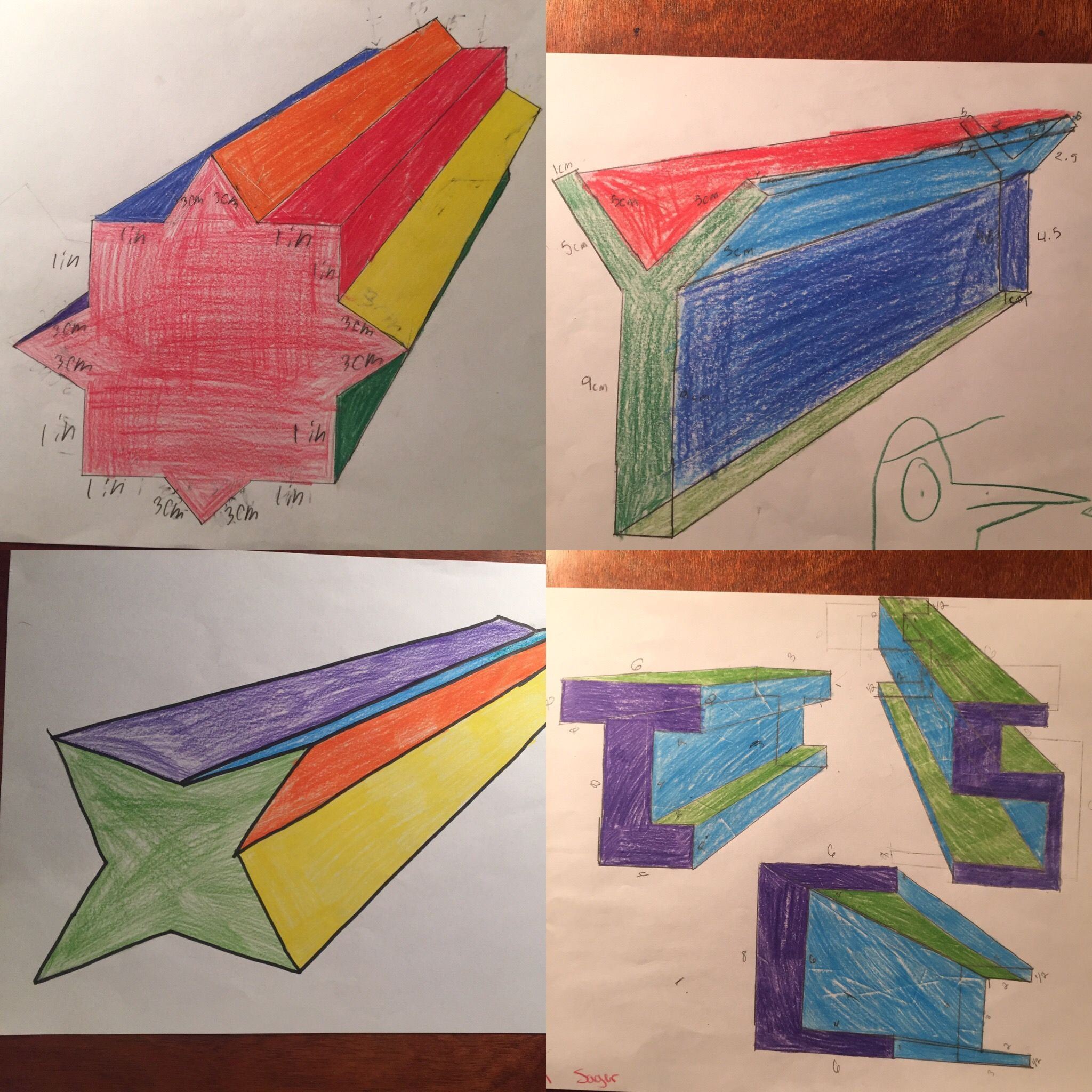 Making 3d Shapes And Similar Objects Using Scale Drawing