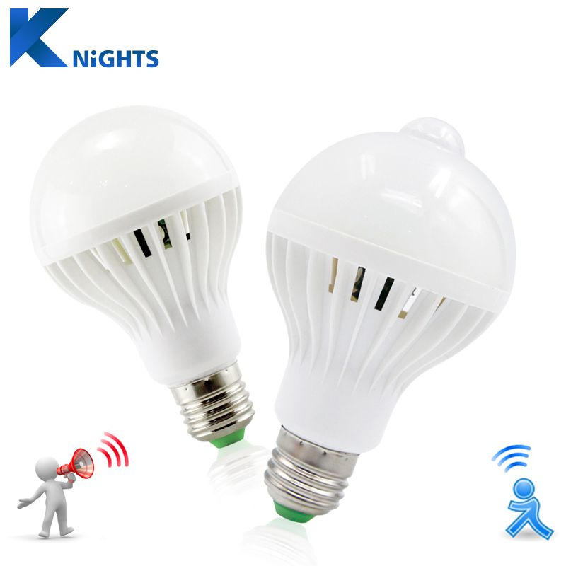 Led Pir Infrarot Bewegungsmelder Sound Lichtsensorsteuerung E27 3 Watt 5 Watt 7 Watt 9 Watt 12 Watt Automatisc Motion Sensor Lights Led Light Bulb Light Bulb