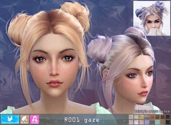 NewSea: R001 Gaze donation hairstyle • Sims 4 Downloads | Sims 4 ...