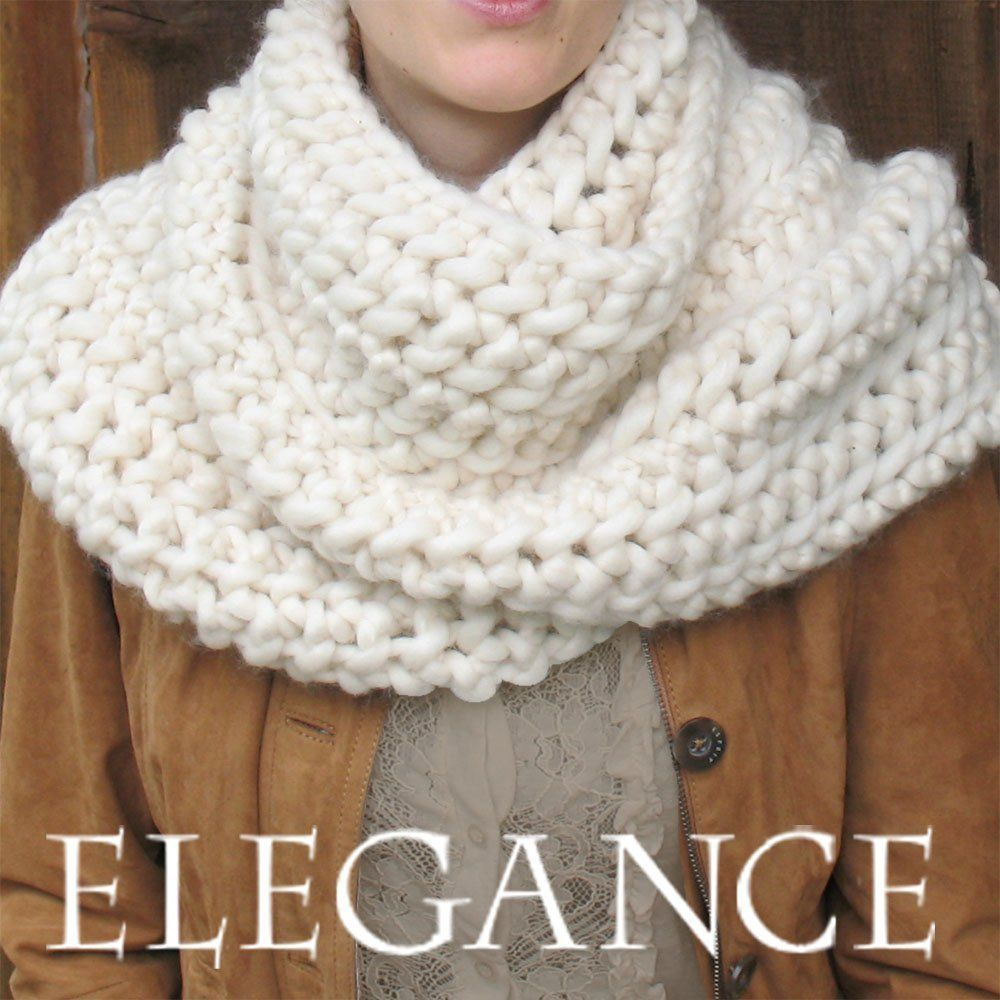 ELEGANCE Outlander Cowl KNIT KIT includes sot yarn | Crochet and ...