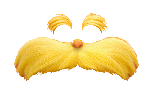 Bewitching image for printable lorax mustache and eyebrows