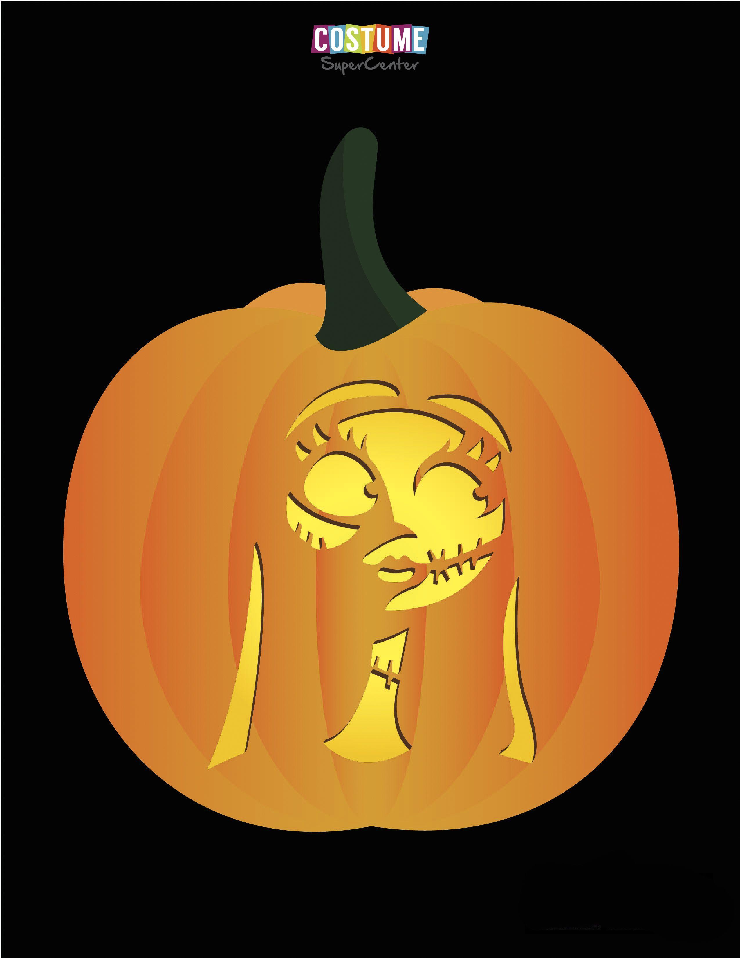 Nightmare Before Christmas Pumpkin Carving Stencils | Pumpkin patch ...
