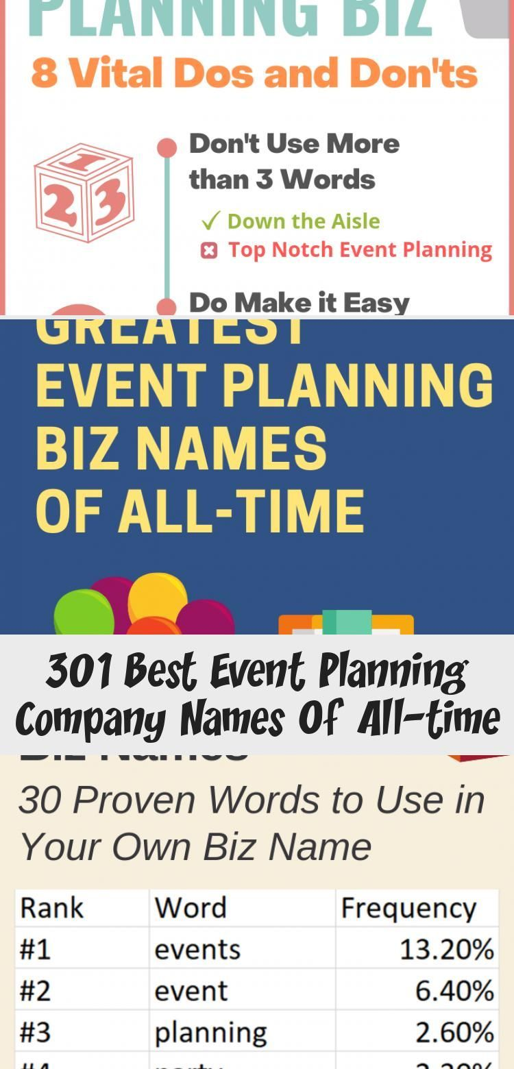301 Best Event Planning Company Names Of Alltime
