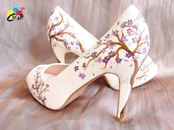 Color y nombre de pintado on tacón a mano Diseño otros Blanco personalizar Tree Modelo Posibilidad Etsy de con Zapatos colores nwIfp6ZqRp