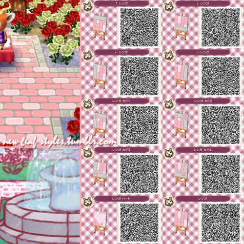 Animal crossing new leaf qr code paths pattern new leaf for Floor qr codes new leaf
