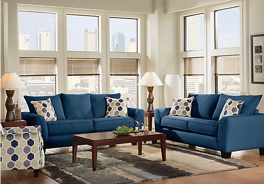 Shop For A Bonita Springs 5 Pc Blue Living Room At Rooms